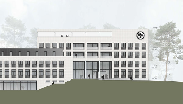 立柱西立面视图,视觉设计 © Eintracht Frankfurt, AS+P Albert Speer + Partner GmbH